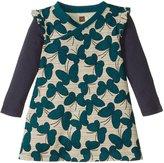 Tea Collection Nansei Wrap Neck Dress (Baby) - Almond -6-12 Months