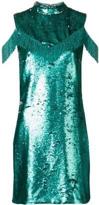 VIVETTA sequin cold shoulder dress