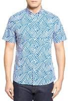 Nordstrom Slim Fit Geo Print Sport Shirt