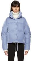 Moncler Blue Velvet Down Cercis Jacket