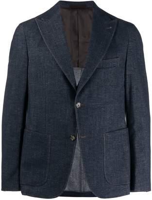 Eleventy denim fitted blazer