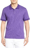 Robert Graham Pebbles Paisley Print Jersey Polo