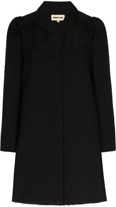 SHUSHU/TONG Textured Bow Detail Coat