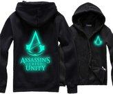 EkarLam® Fleece ASSASSINS CREED Luminous Outfit Sweatshirt Hoodies Jacket
