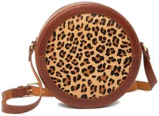 Most Wanted Design by Carlos Souza Cheetah Genuine Calf Hair Crossbody Bag