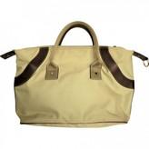 Lancel Beige Cloth Travel bags