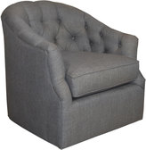 Horchow Rae St. Clair Charcoal Tweed Swivel Chair