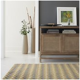 Crate & Barrel Twine Striped Hand Knotted Wool Rug