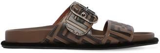 Fendi 20mm Ff Logo Buckled Leather Sandals