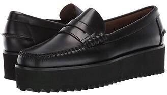 Sebago Dan Wedge (Black) Women's Shoes