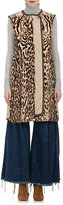 Chloé WOMEN'S LEOPARD-PRINT FUR & COTTON-BLEND VEST