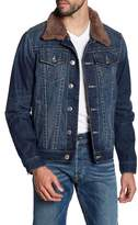 True Religion Fleece Lined Denim Jacket
