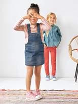 Vertbaudet Girls Denim Pinafore Dress