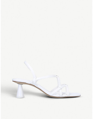 Who What Wear Perla strappy faux-leather sandals