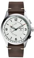 Fossil Q Activist Hybrid Leather Strap Watch, 42mm