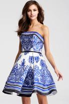 Jovani JVN56018 Strapless Fit and Flare Short Dress
