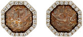 Monique Péan Women's White-Diamond & Fossilized-Dinosaur-Bone Studs