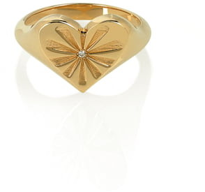 Marlo Laz Heart Pinky Ring