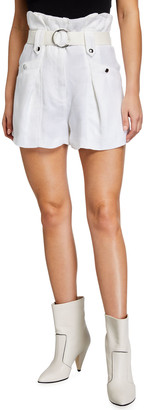 IRO Buxy Belted Paperbag Shorts