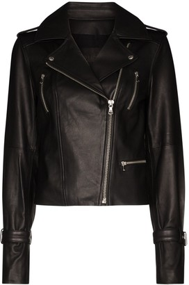Paige Rayven leather biker jacket