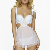 Jezebel Sylvia Lace Apron and Babydoll with G-String