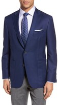 Hickey Freeman Men's 'The Traveler' Classic Fit Solid Wool Sport Coat