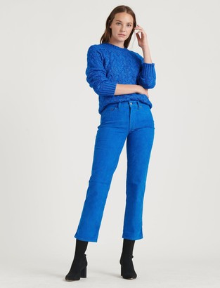Lucky Brand Mid Rise Authentic Straight Crop Corduroy Jean