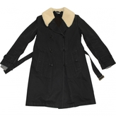 Miu Miu Black Synthetic Coat
