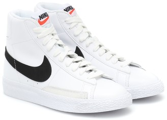 Nike Kids Blazer Mid leather sneakers