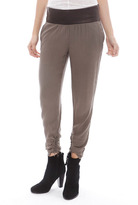 Singer22 SOLD Design Lab Leather Waist Pant in Grey
