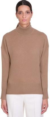 Theory Karenia Knitwear In Beige Cashmere