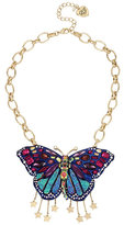 Betsey Johnson Butterfly Dreams Drama Necklace