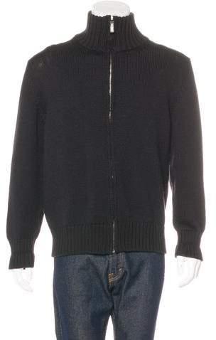 Gucci Wool-Blend Zip Sweater