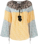 Lanvin heart embellished floral print blouse