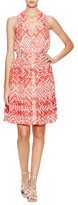 Temperley London Cotton Ripple Printed Sleeveless Dress