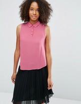 Glamorous Button Neck Crop Shirt