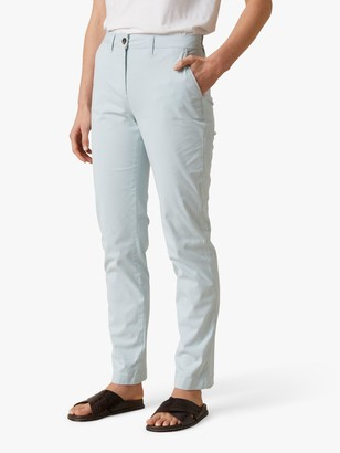 Jigsaw Slim Leg Chino Trousers, Porcelain Blue