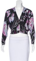 Emilio Pucci Silk Patterned Cardigan