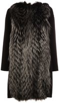 Fendi fox fur appliqué coat