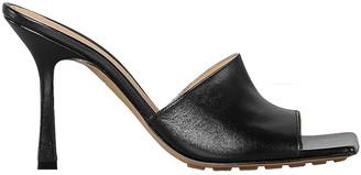 Bottega Veneta Leather Mules in Black | FWRD