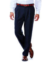 Haggar BIG & TALL Repreve Stria Dress Pants - Classic Fit, Pleated Front, Expandable Waist