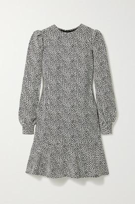 MICHAEL Michael Kors Leopard-print Crepe Mini Dress - Black