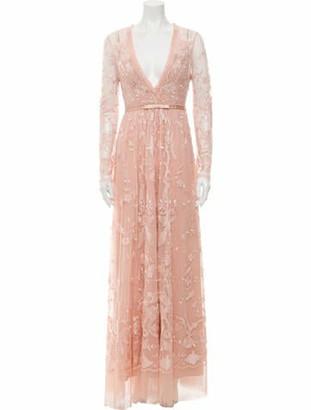 Needle & Thread Lace Pattern Long Dress w/ Tags Pink