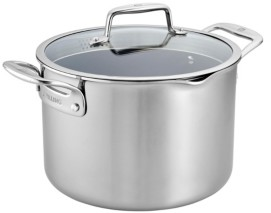 Zwilling J.A. Henckels Zwilling Clad Cfx 8-Qt. Stock Pot with Strainer Lid and Pouring Spouts