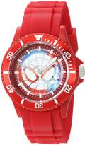 Marvel Men's 'Classic' Quartz Plastic Casual Watch, Color: (Model: WMA000064)