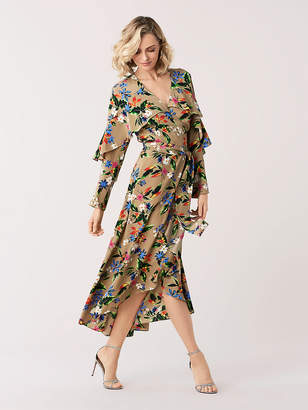 Diane von Furstenberg Alice Silk Crepe de Chine High-Low Wrap Dress