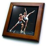 3dRose LLC ft_1273_1 Dance - Ballet Dance - Framed Tiles