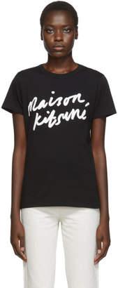MAISON KITSUNÉ Black Handwriting T-Shirt
