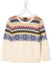 Ralph Lauren Kids knitted Christmas jumper