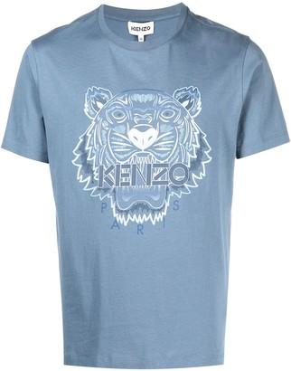Kenzo Tiger motif logo-print T-shirt